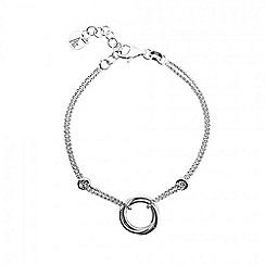 Azendi - Silver love-knot bracelet