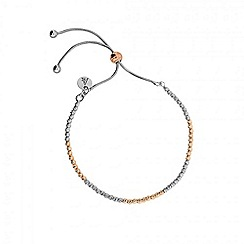Azendi - Metallic textured adjustable bracelet