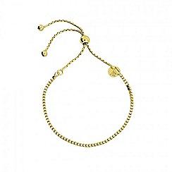 Azendi - Gold box chain adjust bracelet