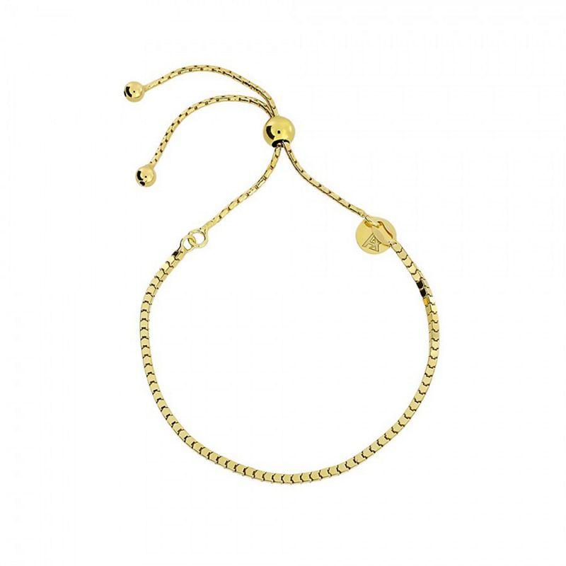 Azendi Gold box chain adjust bracelet
