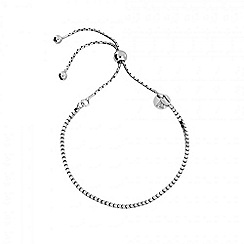 Azendi - Silver box chain adjustable bracelet