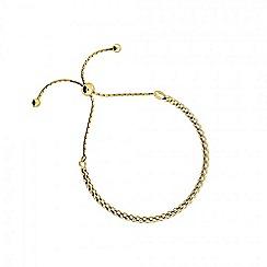 Azendi - Gold adjustable flat chain bracelet