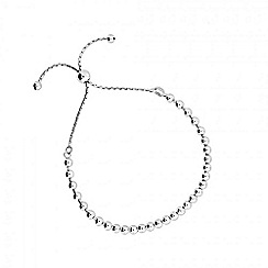 Azendi - Silver adjustable ball bead bracelet