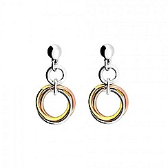 Azendi - Multicoloured love knot drop earring