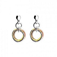 Azendi - Multicoloured love knot drop earring