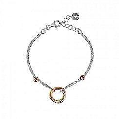 Azendi - Silver love knot bracelet
