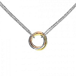 Azendi - Silver love knot necklace