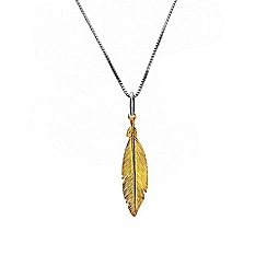Azendi - Yellow small feather pendant