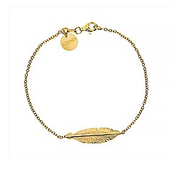Azendi - Gold feather bracelet