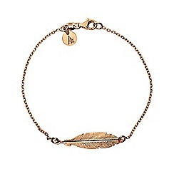 Azendi - Bronze feather bracelet