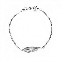 Azendi - Silver feather bracelet