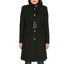 David Barry - Black mandarin collar coat