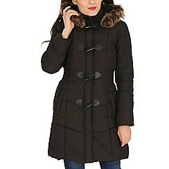 David Barry - Black hooded toggle coat