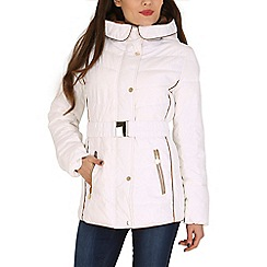 David Barry - White faux down quilted jacket