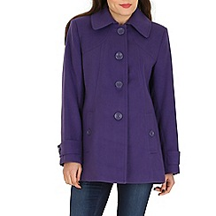 David Barry - Purple faux cashmere duffle coat