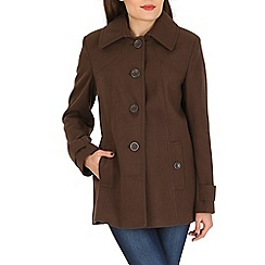 David Barry - Brown faux cashmere duffle coat