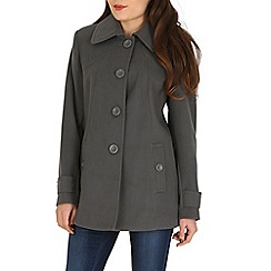 David Barry - Dark grey faux cashmere duffle coat