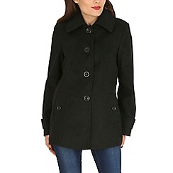 David Barry - Black faux cashmere duffle coat