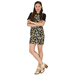 Madam Rage - Multicoloured floral t-shirt dress