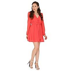 Madam Rage - Pale peach wrapped dress
