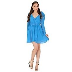 Madam Rage - Blue wrapped dress