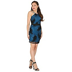 Madam Rage - Blue leaf net dress