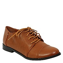 Betsy - Brown lace up brogue