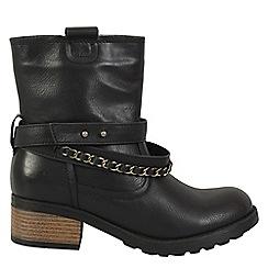 Betsy - Black biker boot
