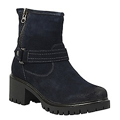 Betsy - Navy chunky ankle boot