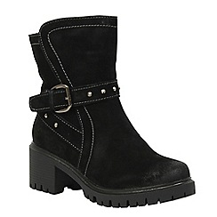 Betsy - Black buckle detail boot