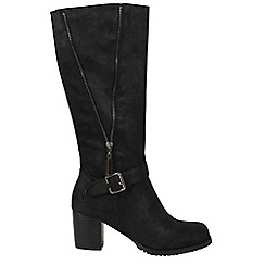 Betsy - Black mid length boots