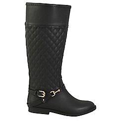Keddo - Black quilted welly