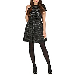 Pussycat London - Black baroque mesh dress