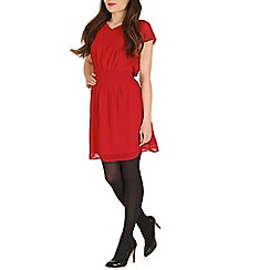 Pussycat London - Red chiffon waist detail dress