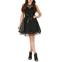 Pussycat London - Black waist embellished dress