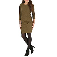 Pussycat London - Olive side seam midi dress