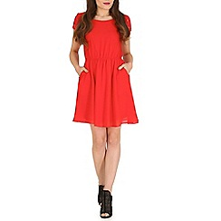 Pussycat London - Red lace detail flare dress