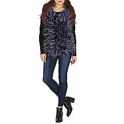 Izabel London - Navy faux fur vest