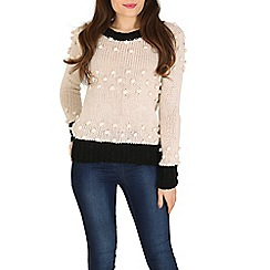 Izabel London - Multicoloured contrast lining knitted pullover