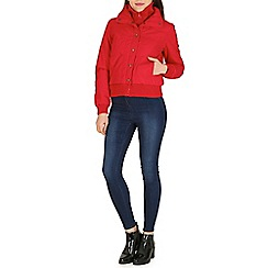 Izabel London - Red basic puffy 2 way jacket