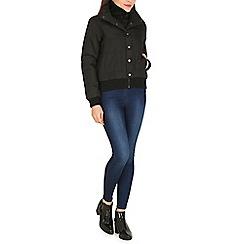 Izabel London - Black basic puffy 2 way jacket