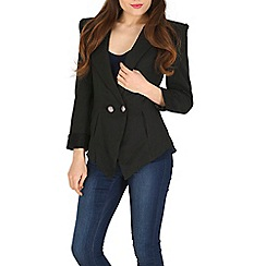 Izabel London - Black low cut puffy shoulder jacket