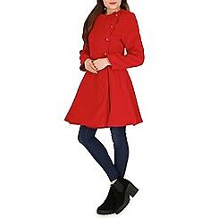Izabel London - Red long sleeve breast button dress jacket