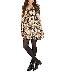 Mela - Yellow floral print dress