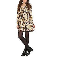 Mela - Yellow floral print dress