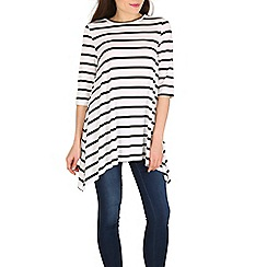 Mela - White stripe jersey top