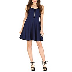 Madam Rage - Blue textured skater dress