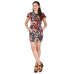 Madam Rage - Multicoloured floral tulip dress