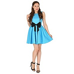 Madam Rage - Blue jacquard bow dress