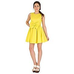 Madam Rage - Yellow jacquard bow dress